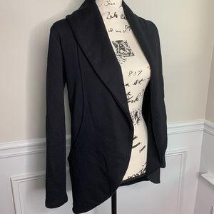James Perse black open front cardigan jacket M
